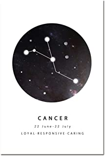 Home Decor Prints Paintings Geometric Minimalist Constellation Astrology Sign Pictures Wall Art Modular Canvas Poster Study,13x18cm No Frame,HE3338-3