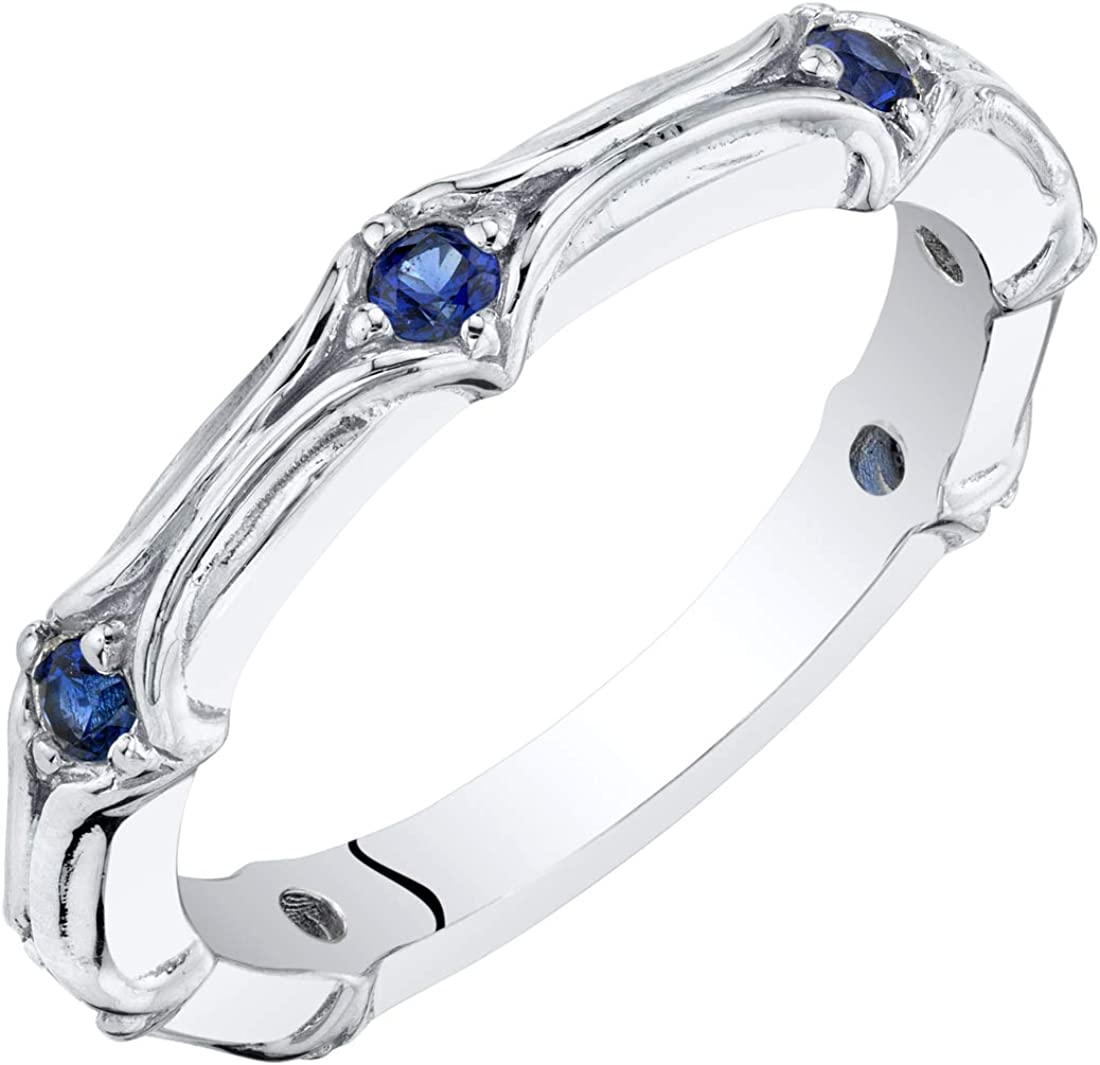 Peora High quality new Sterling Silver Stackable Ring or Created Simulated specialty shop Gem in