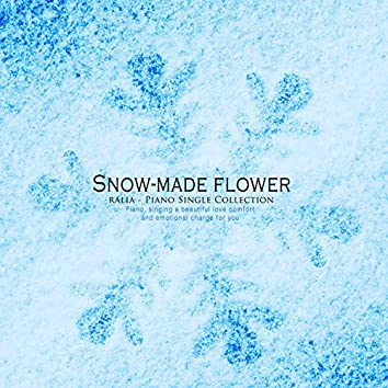 Flowers made of snow