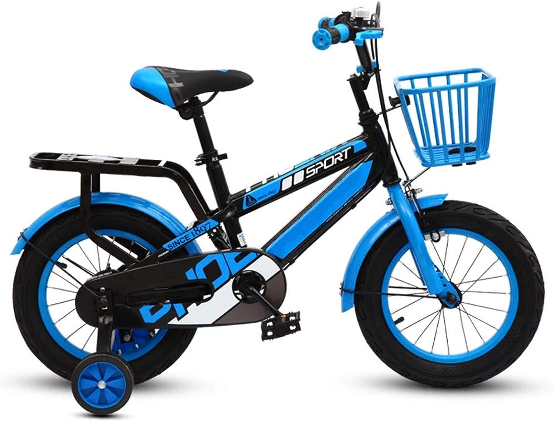 Kinderfahrrder HAIZHEN Kinderwagen Mdchenfahrrad, Jungenfahrrad Trainingsrdern im Alter von 2 bis 14 Jahren, 95% montiert Für Neugeborene (Farbe   Blau, gre   16 inch)