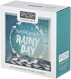Splosh Change Box Coin Money Savings Fund Jar Container for Dream Fulfillment (Saving For A Rainy Day) by ING