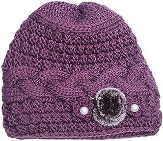0c418bac4 Pandaie-Womens Hats, Elderly Women Fashion Keep Warm Winter Hats Knitted  Hand Hook Hat