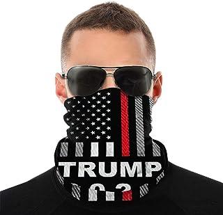 Unisex Face Mask USA-Flag Neck Warmer Windproof Bandanas For Men Women (Trump7)