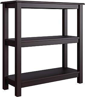 Homfa Étagère de Rangement Meuble Table d'appoint 3 Niveaux pour Salon Chambre Salle de Bain Bois 78x30x80cm (Marron foncé)
