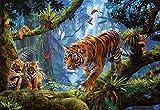 Educa- Tigres en el Àrbol Puzzle, 1000 Piezas, Multicolor (17662)
