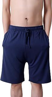 Dolamen Uomo Pantaloni Pigiama Shorts Cotone Modale, Boxer Pantaloncini Corti Pantaloni da Pigiama Biancheria da Notte Cin...