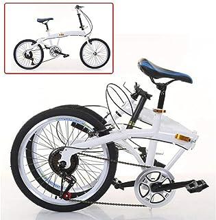 Bicicleta plegable de 20 pulgadas, 7 velocidades, doble V, freno de acero al carbono, plegable, plegable, plegable, 44T, c...