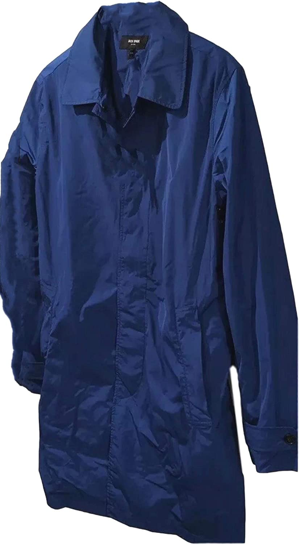 Jack Spade Men's Royal Blue Waterproof Packable Trench Coat Size Medium