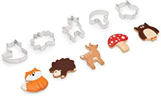 Fox Run 3694 Woodland Animal Cookie Cutters, Set of 5, Stainless Steel