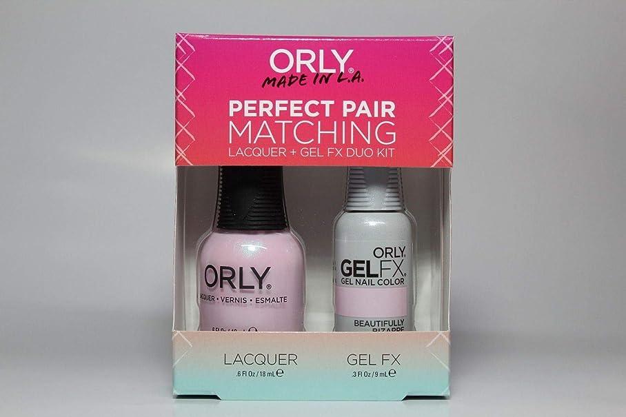 無声でアプライアンス常にOrly - Perfect Pair Matching Lacquer+Gel FX Kit - Beautifully Bizarre - 0.6 oz / 0.3 oz