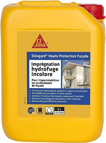 Sikagard Haute Protection Façade, Hydrofuge formule renforcée, anti-tâche, pour façades, murs, multi-supports, prêt à...