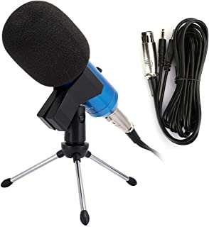 No Drive Cardioid Condenser Handheld Microphone Rapid Voice Recording Desktop Stand Wired Mic for Karaoke