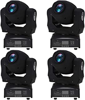 Lixada 60W Moving Head Light LED 8 Gobos 8 Colors 9/11 Channel Stage Effect Lamp RGBW Auto-Run DMX512 Sound-Activated Master-Slave for DJ Club Show Disco Party Bar Lighting 4 Pack
