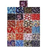 VORCOOL 25 Hojas Japonés Acolchado Tela de Algodón 25Cm Zephyr Kimono Cuadrados...
