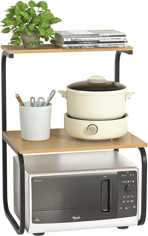 AJZXHE Estanterías de Almacenamiento, bandejas y Soportes Estante de la Cocina, Horno Doble microondas Estante de microondas Estante de Almacenamiento de Cocina Multifuncional (Color : B)