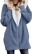 WEUIE Women's Casual Warm Fuzzy Fleece Coat Jacket Long Sleeve Hooded Cardigans Autumn Winter Outwear with Pocket