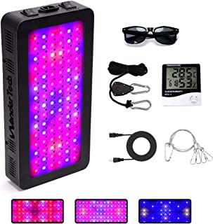 900W LED Plant Grow Light - Full Spectrum Dual Switch with Adjustable Rope and UV Protection Sunglasses for Indoor Plants Veg and Flower Grow Light (10W LEDs 90Pcs)