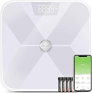 Etekcity Digitale weegschaal, bluetooth, ultraslanke weegschaal, met app voor BMI, gewicht, spiermassa, water, eiwit, botg...