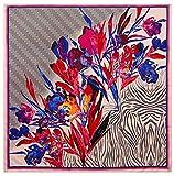 Bellette 130x130cm Pañuelo de Seda para Mujer,Pañuelos Bandanas,Cabeza Cuello Bufanda,Estolas y fulares