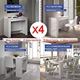 Hogar Decora Mesa de Comedor o Mesa Cocina o Consola, de 50 cm a los 235 cm de Largo...