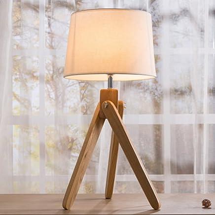 YJH+ シンプルなモダンなランプベッドルームのベッドサイドクリエイティブランプ暖かくスタイリッシュなリビングルームの照明 美しく寛大な ( 色 : 白 )