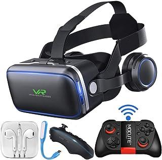 XGVRYG Gafas 3D VR, Auriculares VR, 108 ° FOV, Auriculares HD de Realidad Virtual con protección para los Ojos, con Contro...