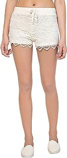KOTTY Women's Off White Shorts
