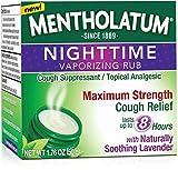 Mentholatum Nighttime Vaporizing Rub Maximum Strength Cough Relief, 1.76 oz (Pack of 10)