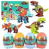 Herefun Dinosauri Giocattolo, DIY Dinosauro Costruzioni di Giocattoli con Cacciavite, Dinosaur Toys STEM Costruzioni Giocattolo, Giocattolo Creativi Compleanno Pasqua Regalo per Bambin 3-8 Anni (B)