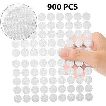 Autocollantes Crochets et 20 mm Boucles Rond Pastille Auto-Adhesive Collant Point Monnaies arri/ère Blanc 1000 Pi/èces