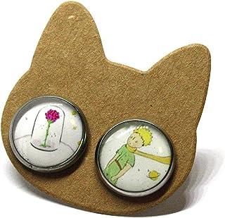 Orecchini PICCOLO PRINCIPE - Orecchini a lobo - Orecchini bottone - Orecchini acciaio - Orecchini piccoli