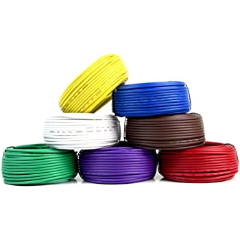Best Connections Trailer Light Cable Wiring Harness 50 Feet 14 Gauge 7 Wire 7 Colors