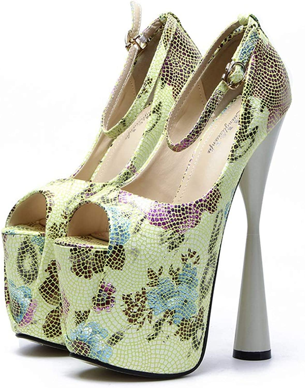 YAN damen Stiletto Schuhe Frühling & Herbst Extreme High Fashion Peep Toe Pumps Handmade Für Hochzeit Kleid Stiletto Slip On Schuhe