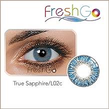 Colores Contacto lente, Azul, suave, sin grosor como (2unidades) de con caja, cómoda., perfecto para telas claras y oscuras Ojos, Fiesta, Azul/Verde