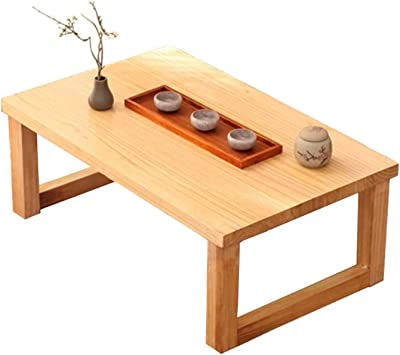 Minimalist Wooden Coffee Table Tea Table Tatami Platform Low Table Creative Balcony Bay Window Table Rectangular Sofa Table, Office Table,1