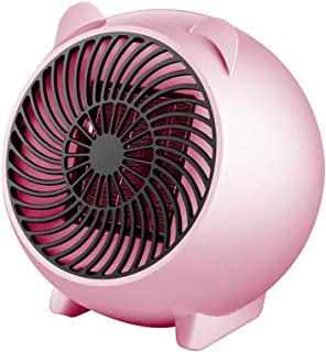 AOHMG Cubierta Eléctrico Termoventiladores y calefactores, 250W función Silence cerámicos Mini Estufa Eléctrica con Protección sobrecalentamiento, Instant Heater,Pink