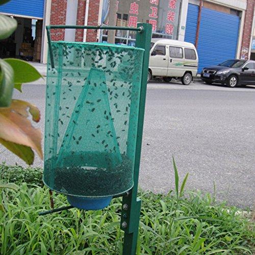 FLAMEER Outils Réutilisables De Piège De Mort De Mouche De Lutte Antiparasitaire Accrochant Le Filet D'insecte Tueur De Tueur De Mouche