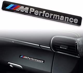 JD PARTS LLC M Performance Car Logo Hood Decal Sticker Emblem for All BMW (Black)