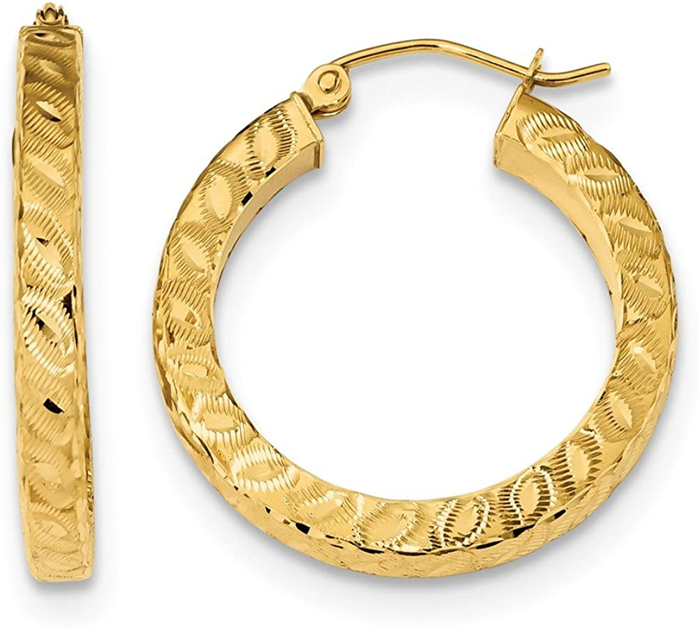14k Yellow Gold Square Tube Hoop Earrings Ear Hoops Set Round Fine Jewelry For Women Gifts For Her