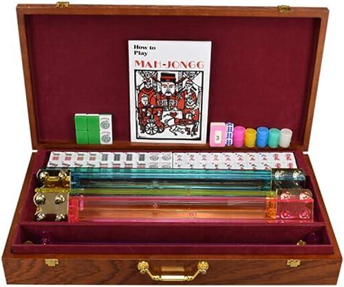 HongTeng Harz Mahjong Qualität Melamin MultiFarbe Casual Lernspielzeug Kreative Familie Unterhaltung Aktivit n Holz Mahjong Aufbewahrungsbox mit AnWeißngen (Farbe   Grün)