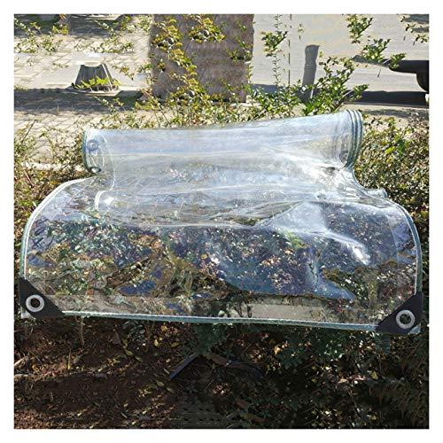 pujindu Impermeable Lona, Transparente PVC Plastico Toldo con Reforzado Ojales for Pabellón Barcos Jardín, Protección Multiusos, 450g /m² (Color : Claro, Size : 1.6x3m)