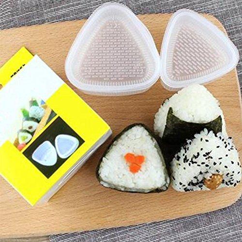 Sushi-Form für Sushi-Formen, dreieckig, mit drei Formen, 4 Stück 4 Stück Wie abgebildet