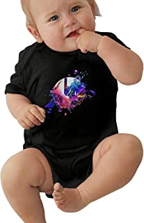 Disco Biscuits Baby Bodysuit Short Sleeve Jersey Cotton T Shirt 0-24 Months Babys Unisex Babys Bodysuit