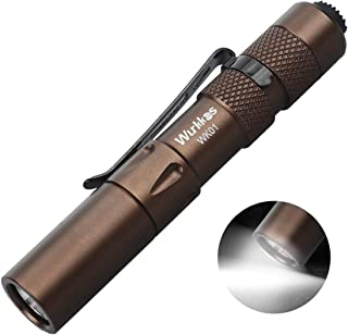 Wurkkos Pocket Pen Light Flashlight,EDC 150 Lumens LED Penlight Super Mini Stylus PenLight with Clip Perfect Flashlights f...
