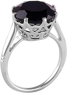شاهجيمز 7.25 قيراط روز كوارتز 925 الفضة الاسترليني مطروقة خاتم الأحجار الكريمة الطبيعية هدية مجوهرات للنساء الرجال