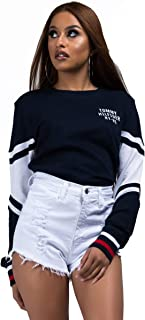 Women's Cropped Pullover Sweatshirt Tee