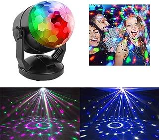 ENUOLI Car music rhythm lamp led flashing DJ atmosphere light small magic ball spotlight Disco Ball Strobe Lamp Battery Powered/USB Plug In Portable 7 Color RBG Rotating Sound Activated Party Lights