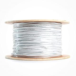 Vertical Cable 1000ft Professional Audio Cable – Fire Safety in Wall Speaker Wire – 14 AWG CMR/CL3 Rated with White PVC Jacket – Oxygen Free Copper Wire Strands – Bulk Wooden Spool