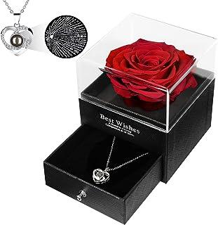 Cadeau De Maman PréServer True Rose 100 Langues Je T'Aime Collier De MèRe En Argent Pur FêTe Des MèRes / NoëL / Cadeau D'A...