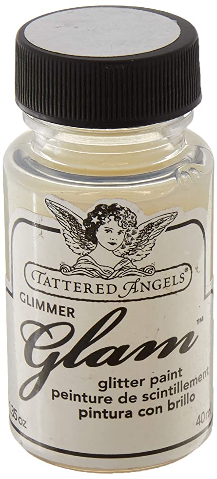 TATTERED ANGELS 20995 Glimmer Glam Water Based Paint, Clear